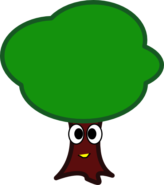 Tree with face clipart clip royalty free download My Tree Face Clip Art at Clker.com - vector clip art online, royalty ... clip royalty free download