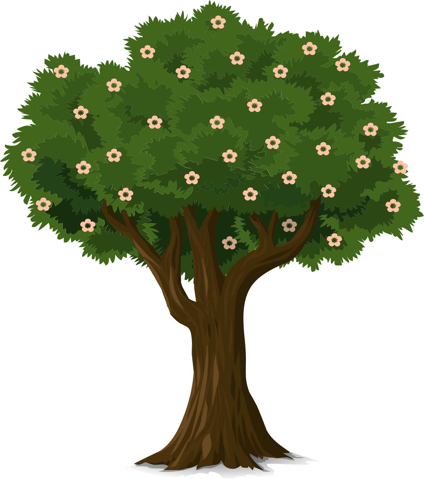 Tree with flowers clipart picture stock Clipart - Detailed Tree picture stock