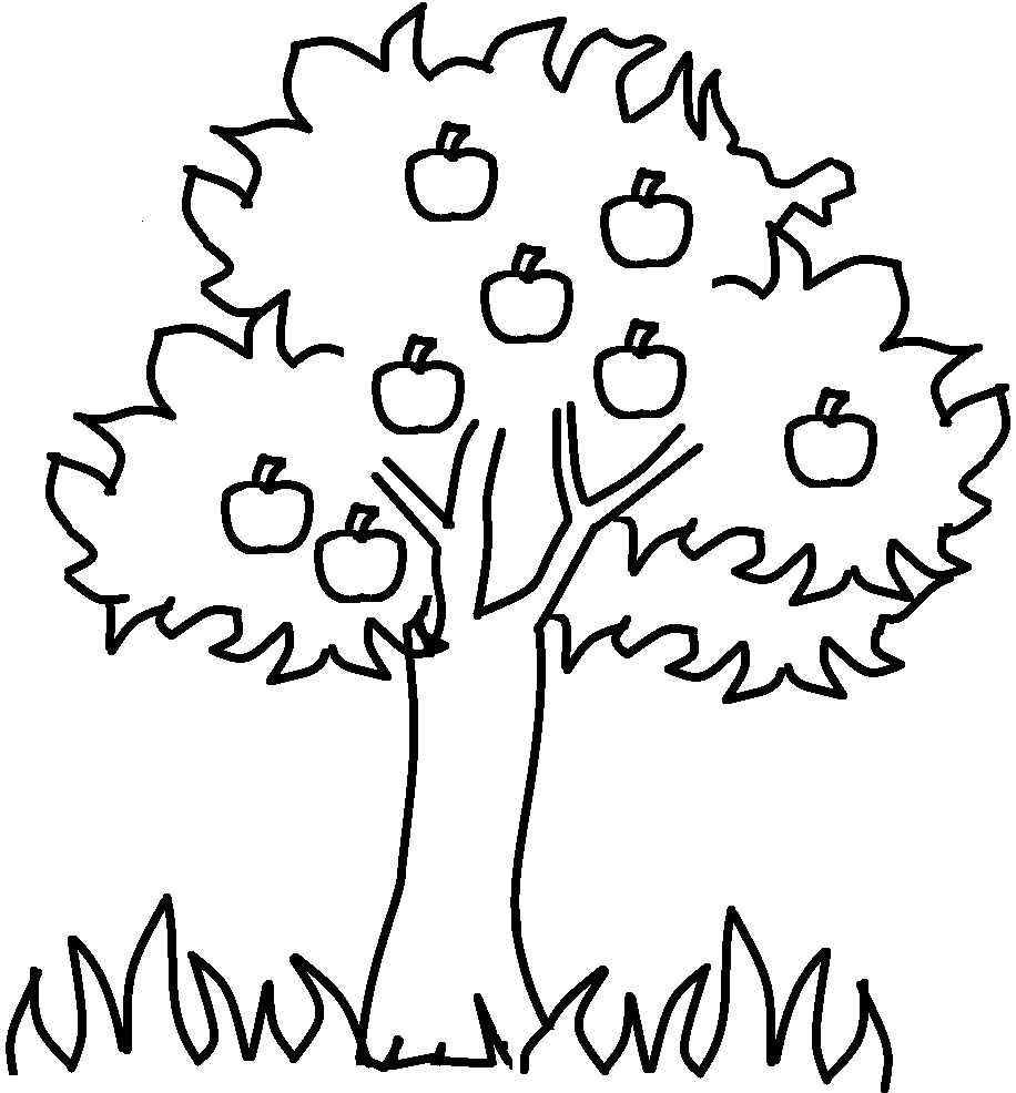 Tree with fruits clipart black and white banner freeuse library Fruit Tree Clipart Black And White banner freeuse library
