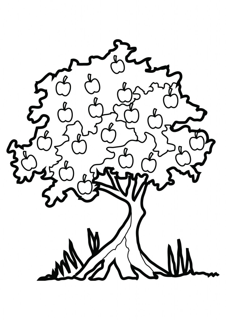 Tree with fruits clipart black and white clip art black and white stock Free Picture Of An Apple Tree, Download Free Clip Art, Free ... clip art black and white stock