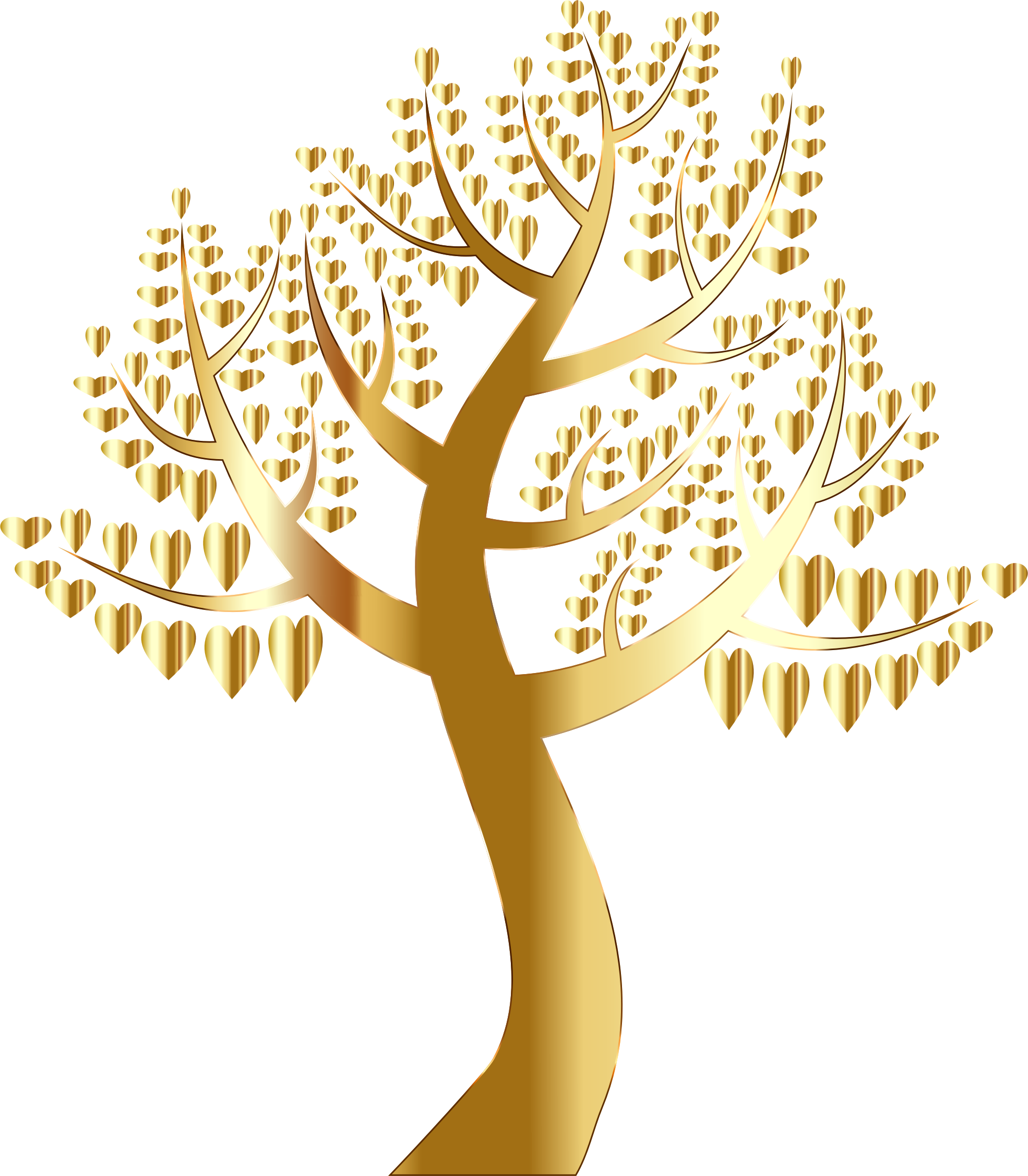 Tree no leaves clipart free Clipart - Simple Hearts Tree 10 No Background free