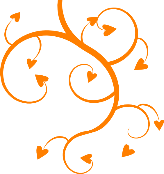 Orange Heart Tree Clip Art at Clker.com - vector clip art online ... transparent stock