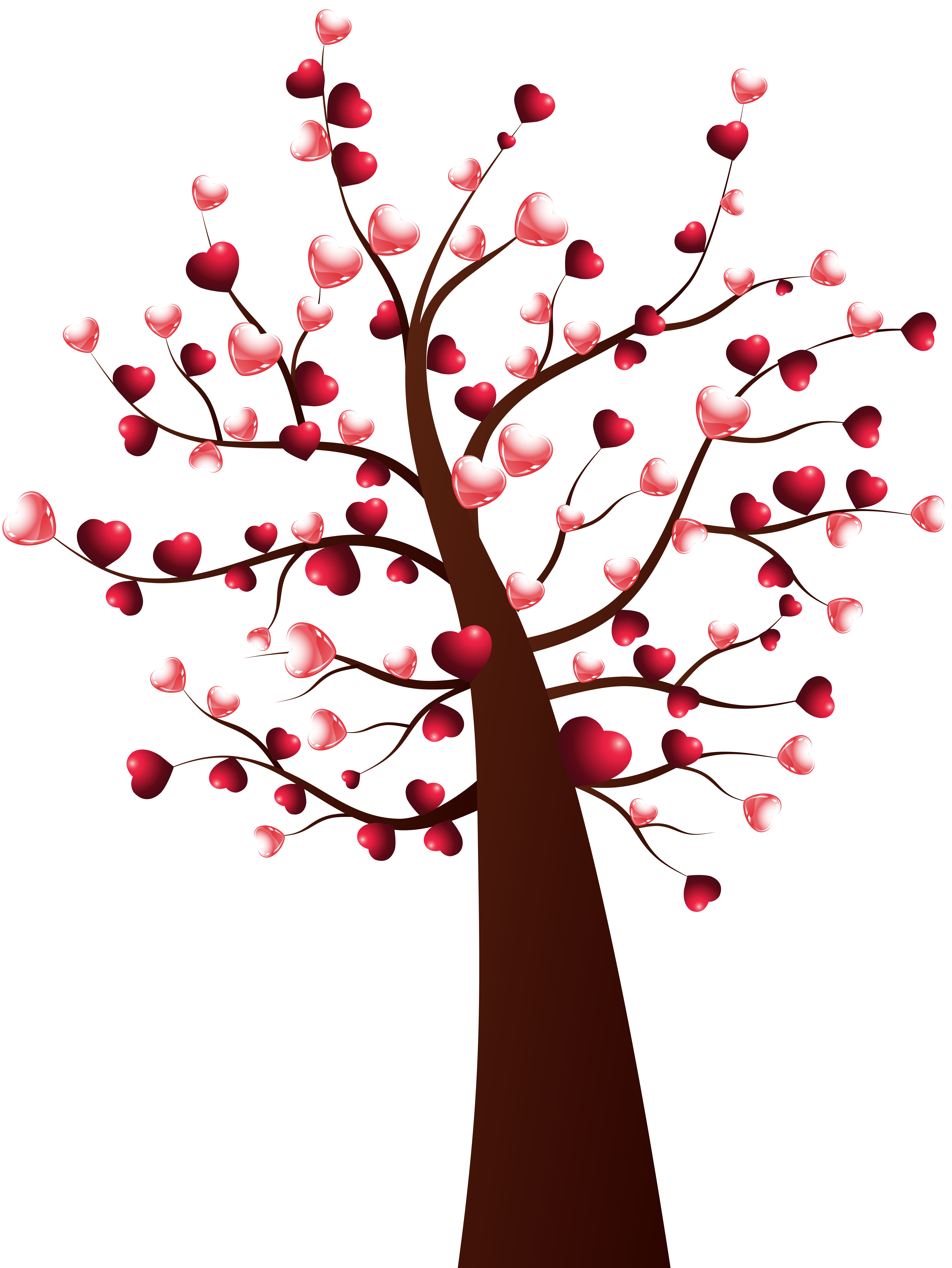 Tree with hearts clipart black and white Heart Tree Transparent Clip Art Image | Gallery Yopriceville - High ... black and white