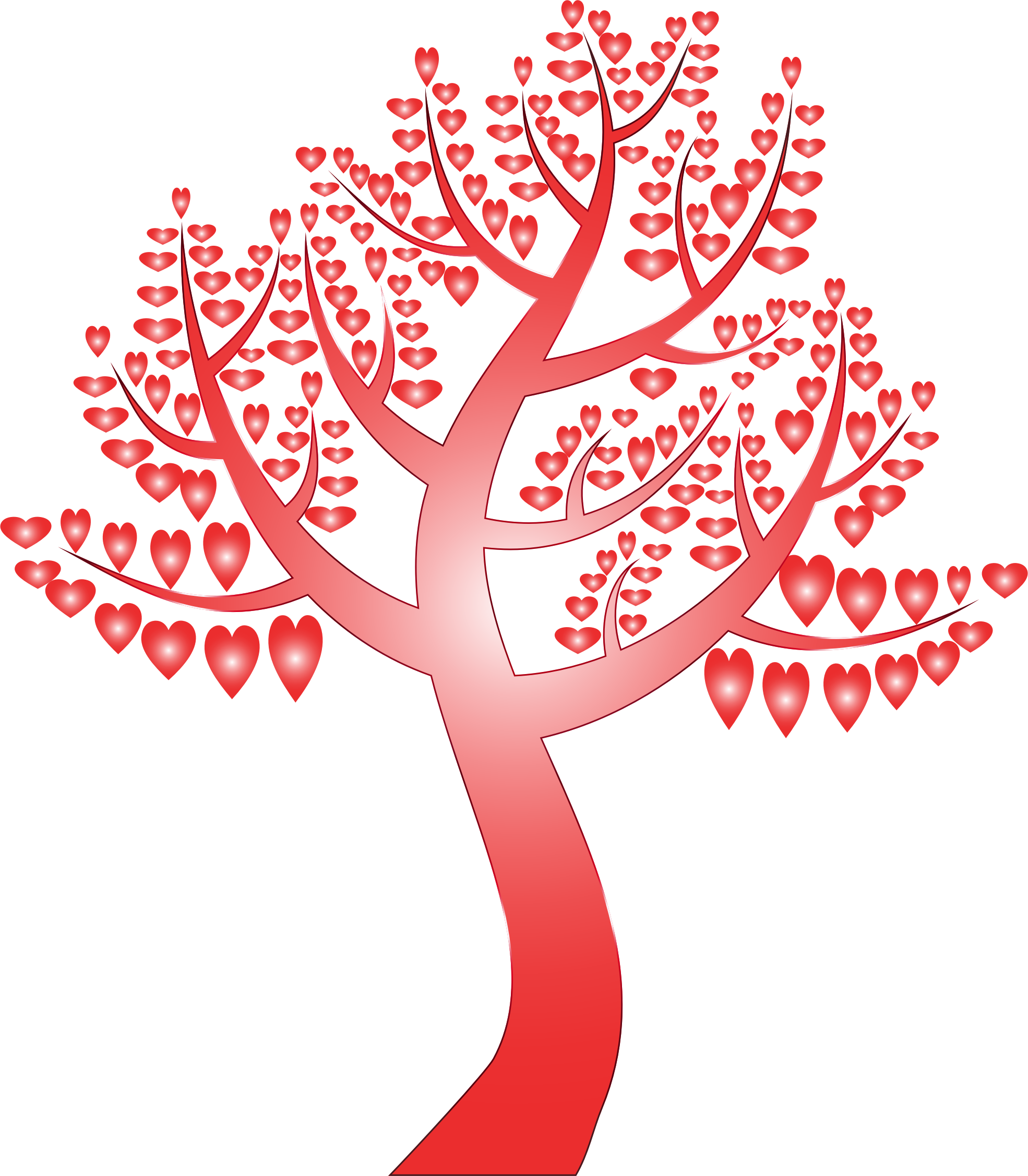 Tree with hearts clipart clipart library library Clipart - Simple Hearts Tree 12 No Background clipart library library