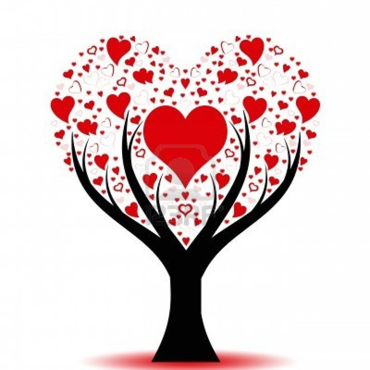 Tree with hearts clipart clipart transparent library 17 Best ideas about Heart Tree on Pinterest | January crafts ... clipart transparent library