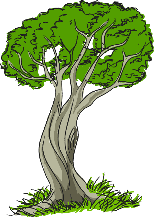 Free clip art nature trees tree with grass clipart image - Clipartix banner library