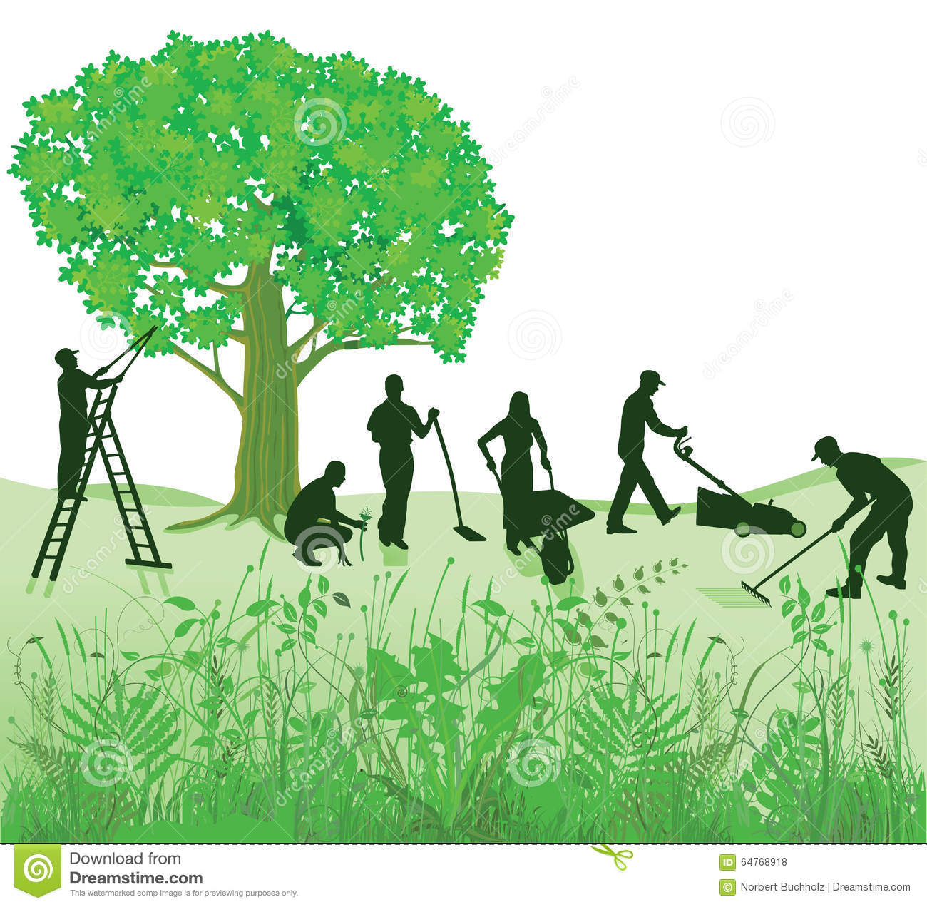 Tree with lawn clipart clipart black and white Tree Clip Art Maintenance – Clipart Free Download clipart black and white