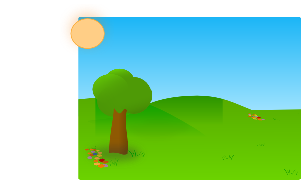 Tree with lawn clipart vector black and white library Trees Sky Grass 2 Clip Art at Clker.com - vector clip art online ... vector black and white library