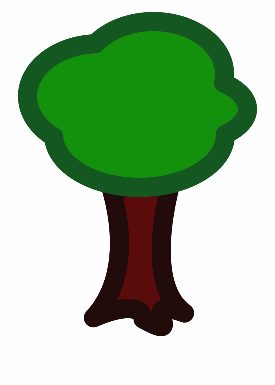Tree with no apple clipart png Drawing Of Green Apple Tree - Cartoon Forest No Background ... png