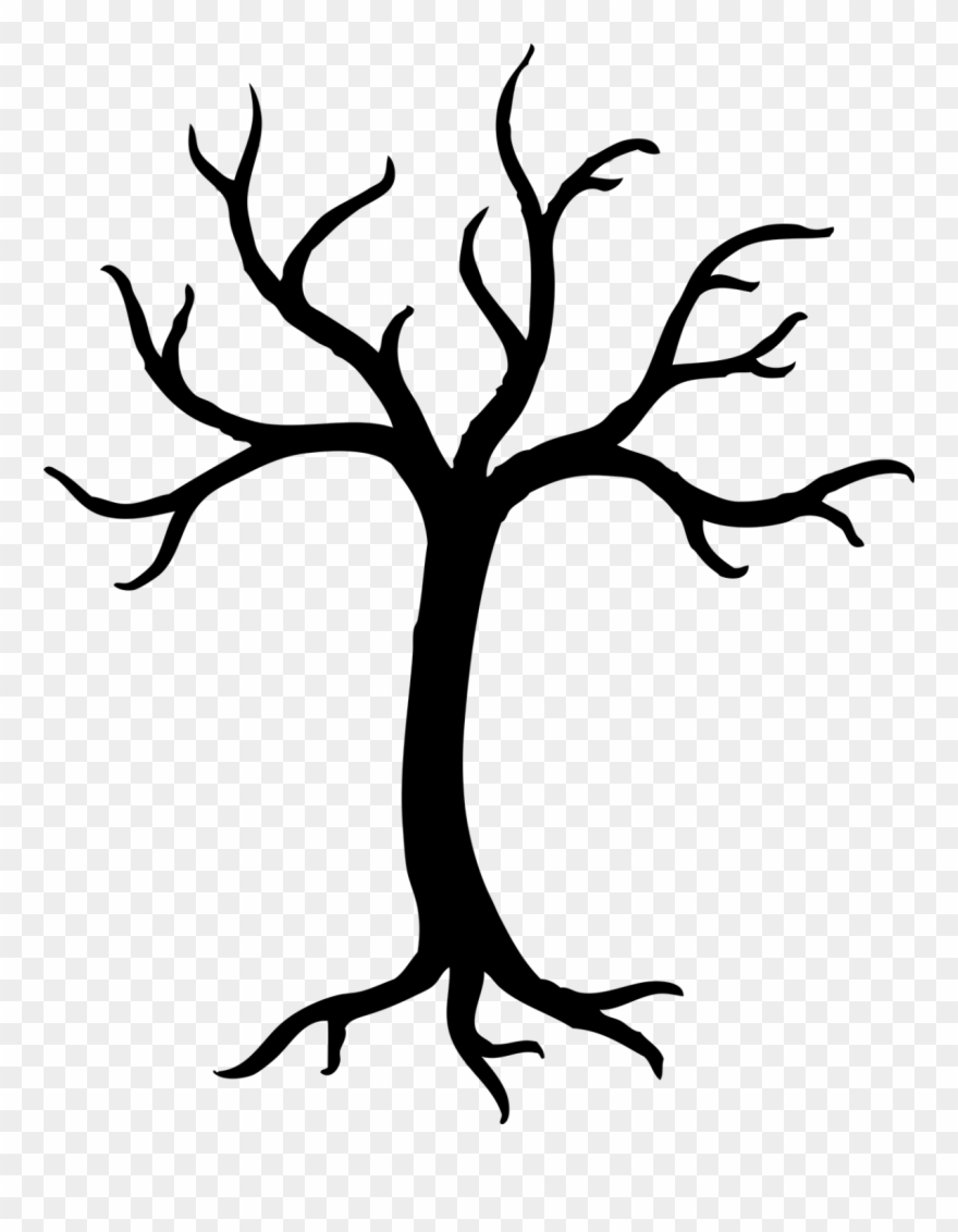 Tree with no leaves clipart black and white vector library library Clip Art Transprent Png Free Line Plant - Tree Clip Art ... vector library library