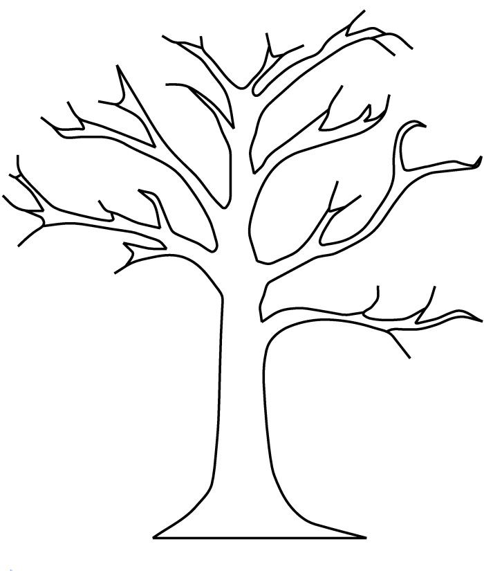 Tree with no leaves clipart black and white picture black and white Bare Tree Without Leaves Coloring Pages - Tree Coloring ... picture black and white