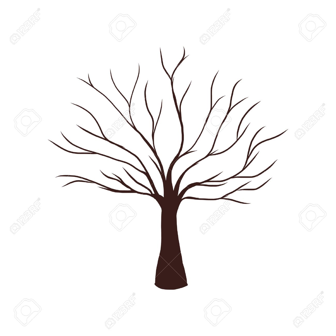 Tree without leaves clipart 3 » Clipart Station png transparent