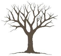 tree without leaves silhouette - Google Search | Tree ... clipart freeuse library