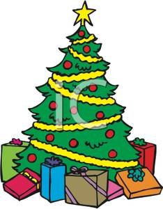 Christmas tree with presents clipart 1 » Clipart Station clip art transparent download