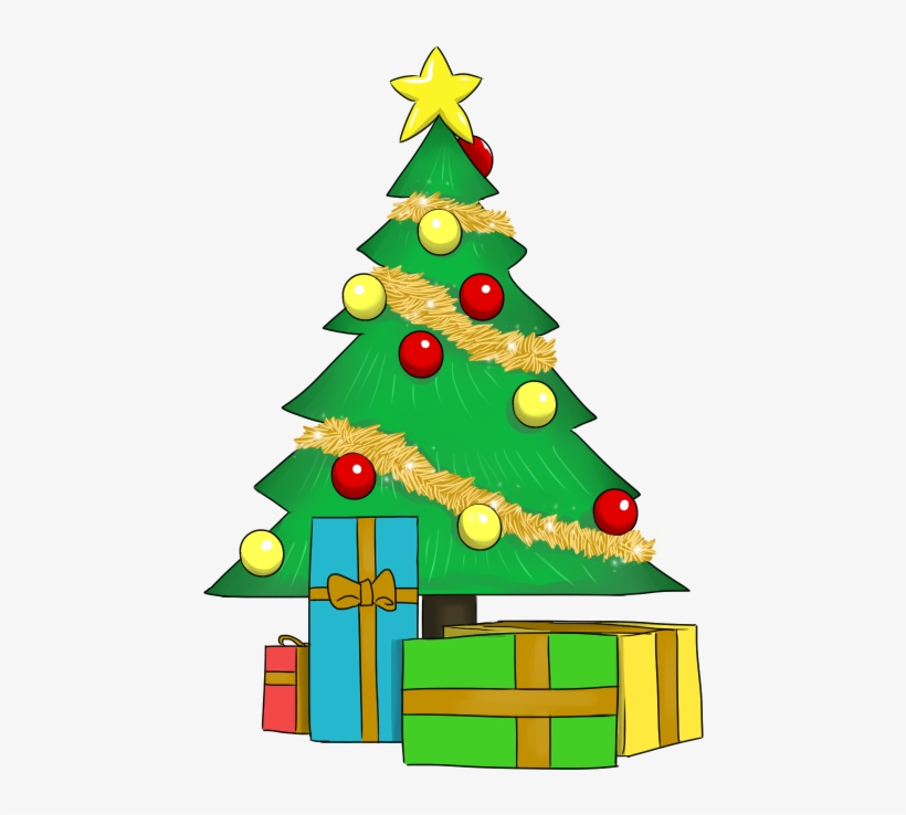 Christmas Tree With Presents Clipart - Christmas Tree ... image free download