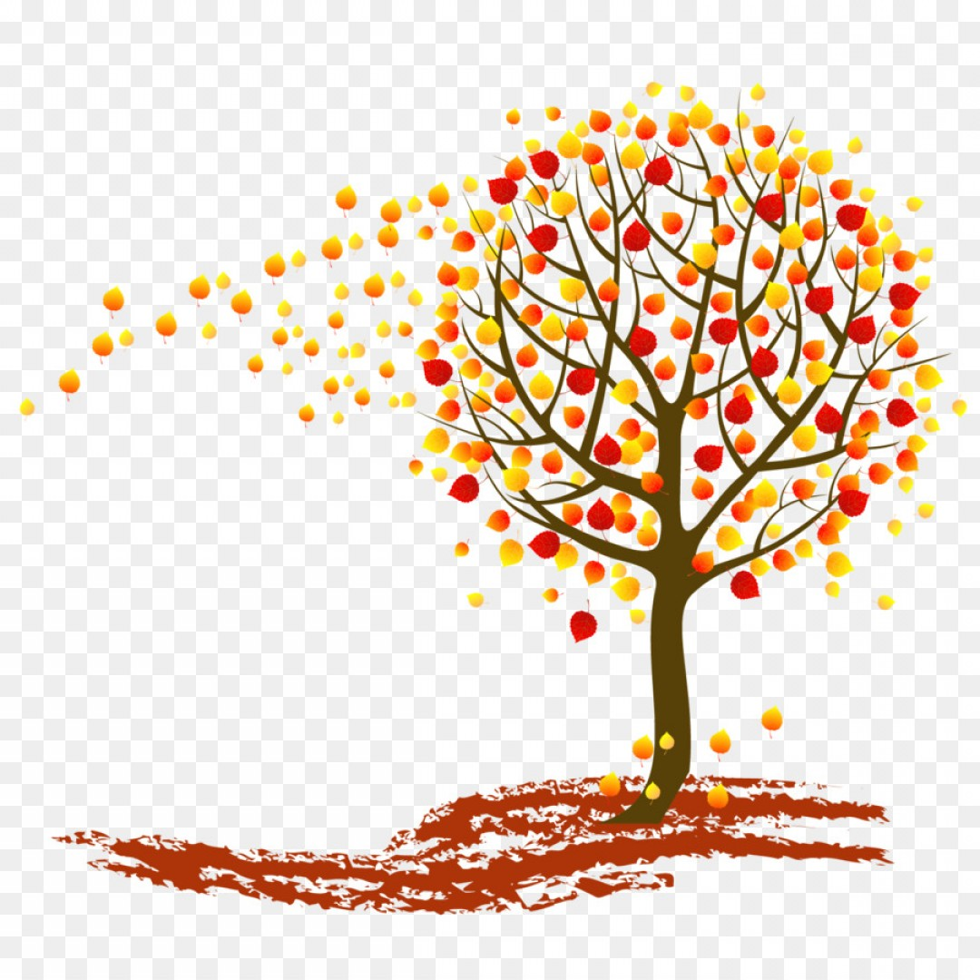 Tree with roots fruit and leaves and falling leaves clipart clip art Png Tree Autumn Clip Art Vector Autumn Leaves Falling | SOIDERGI clip art