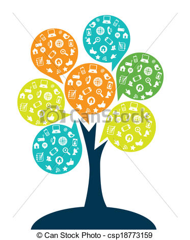 Tree with technology clipart png library stock Tree with technology clipart - ClipartFest png library stock