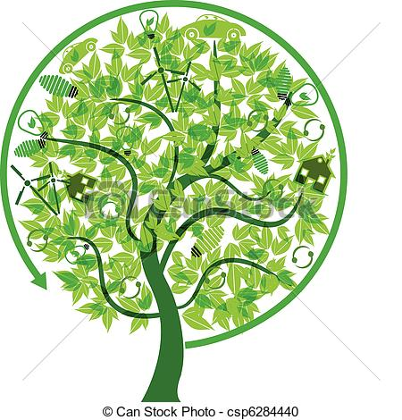 Tree with technology clipart image black and white library Tree with technology clipart - ClipartFest image black and white library