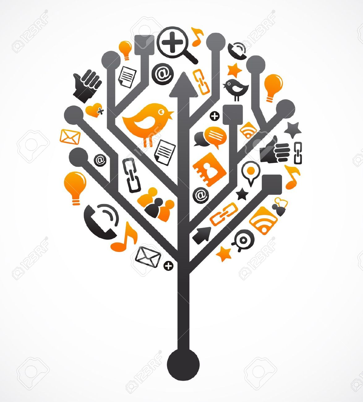 Tree with technology clipart clip transparent library Tree with technology clipart - ClipartFest clip transparent library