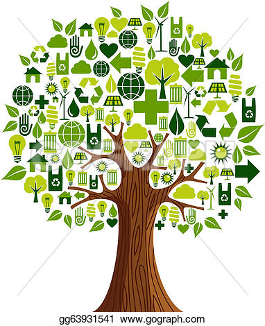 Tree with technology clipart graphic free library Green Tree Clip Art - Royalty Free - GoGraph graphic free library