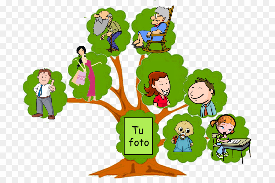 Tree with the word family in the middle clipart jpg download Arbol Familiar PNG Family Tree Genealogy Clipart download ... jpg download