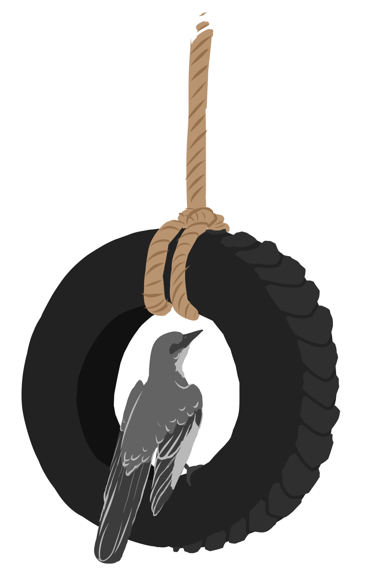 Tree with tire swing clipart image royalty free library To Kill a Mockingbird Small Piece by Nickala on DeviantArt image royalty free library