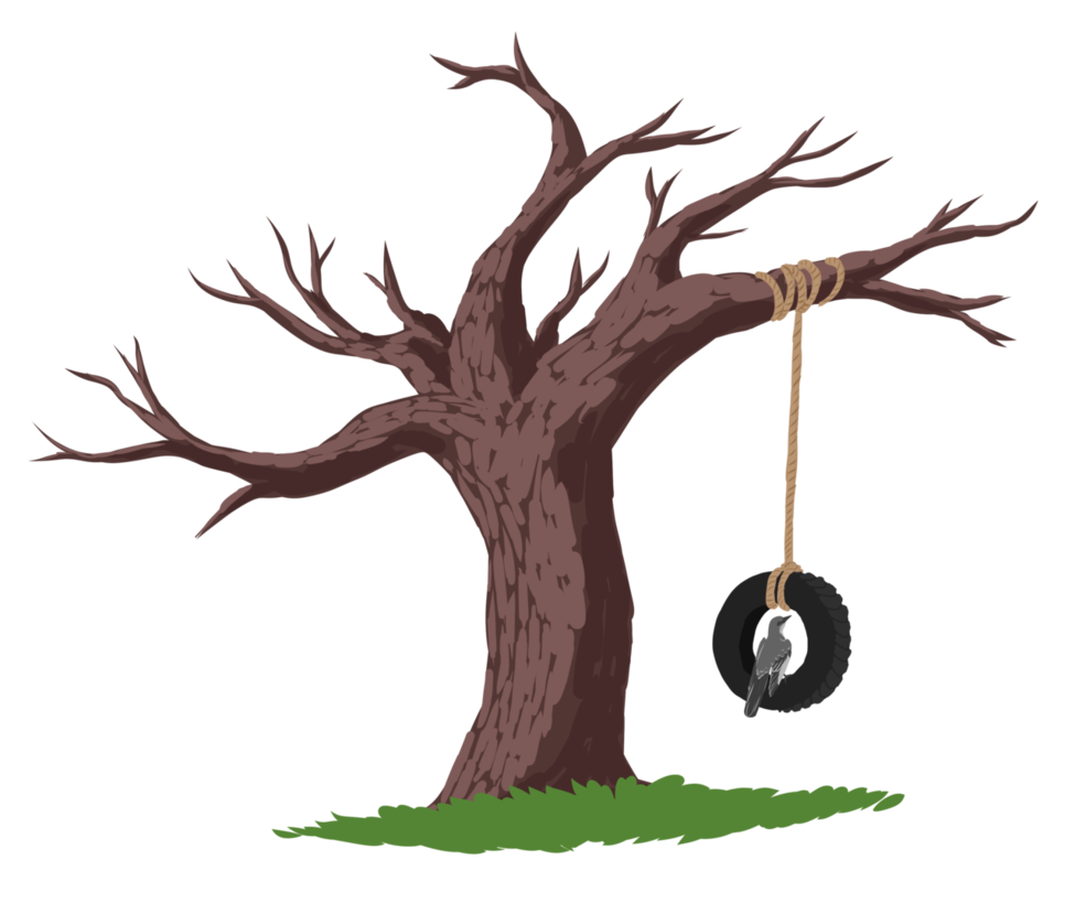 Tree with tire swing clipart png black and white download To Kill a Mockingbird by Nickala on DeviantArt png black and white download
