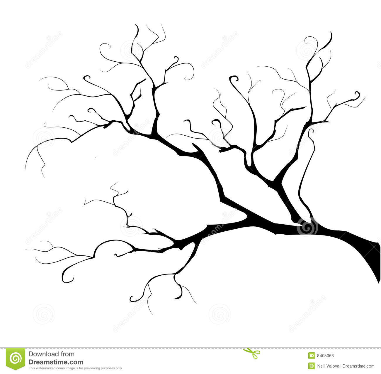 Tree with tree branches clipart graphic black and white stock Black tree branches clipart - ClipartFox graphic black and white stock