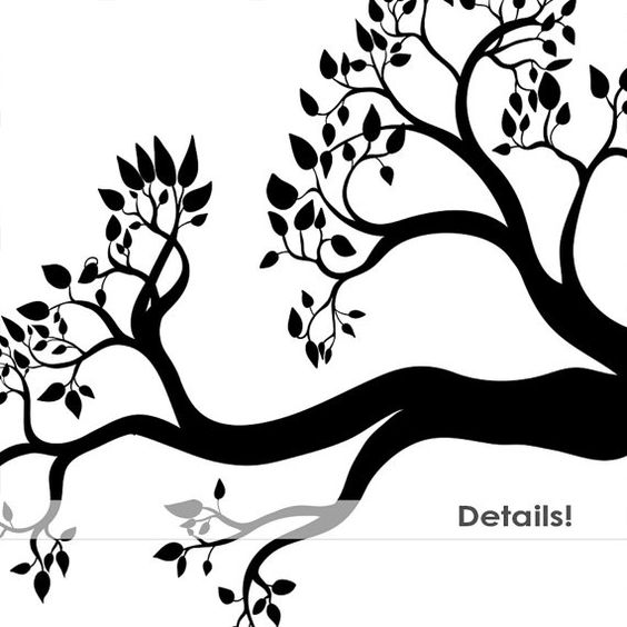 Tree with tree branches clipart vector library download 75% verkoop Tree Branch silhouetten, bladeren tak ClipArt, Tree ... vector library download