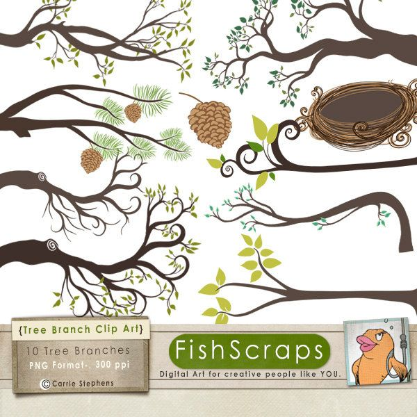Tree with tree branches clipart clip free library 1000+ images about Clip art on Pinterest | Birds, Clip art and ... clip free library
