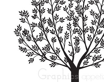 Tree with tree branches clipart picture royalty free Black tree branches clipart - ClipartFox picture royalty free