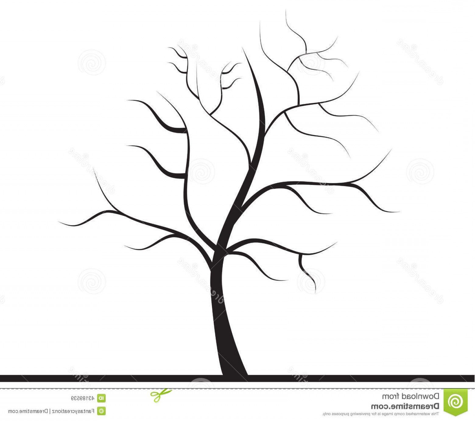Tree without leaves clipart black and white svg transparent Stock Photo Tree Leaves Vector Illustration Black White ... svg transparent