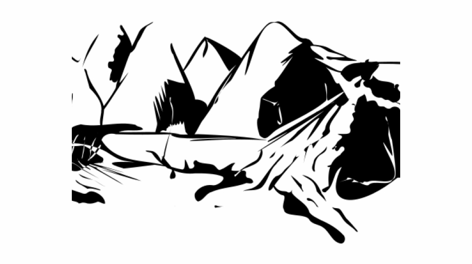 Mountain Clipart Transparent Background - Mountain Clipart ... clipart black and white stock