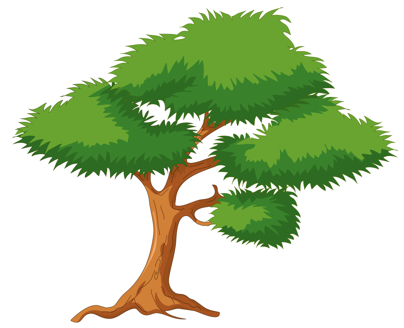 Treepng clipart jpg Green Cartoon Tree PNG Clip Art jpg