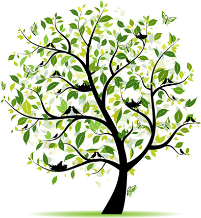 Trees clipart format free download clip royalty free library Different spring tree elements vector Free vector in ... clip royalty free library