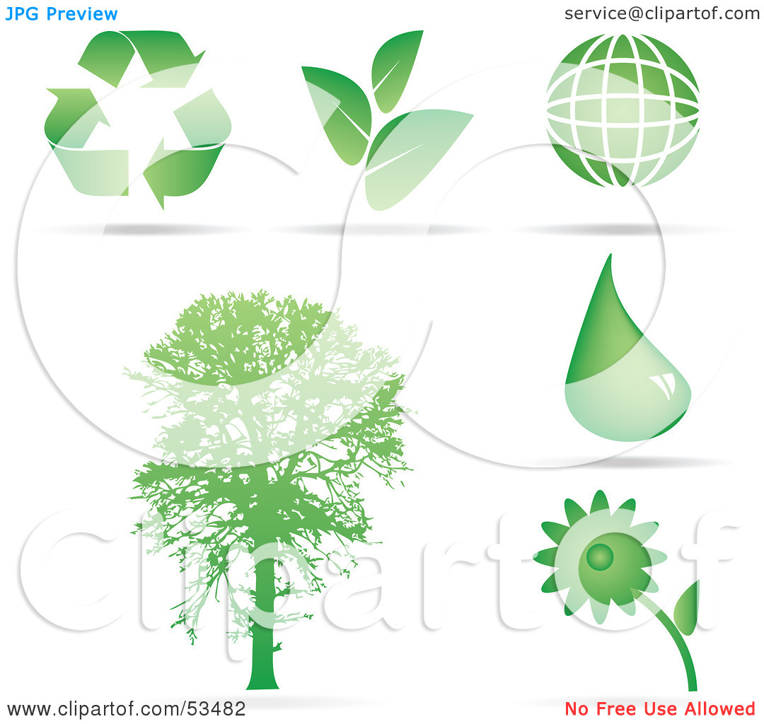 Trees water clipart jpg image black and white stock Royalty-Free (RF) Clipart Illustration of a Digital Collage Of ... image black and white stock