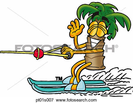 Trees water clipart jpg png freeuse library Clip Art of Palm tree water skiing pt01s007 - Search Clipart ... png freeuse library