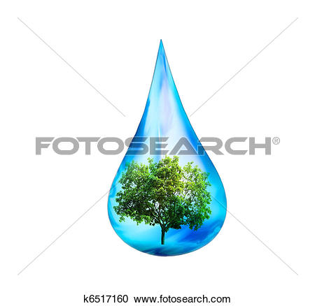 Trees water clipart jpg svg black and white stock Stock Illustrations of water drop and green tree k6517160 - Search ... svg black and white stock