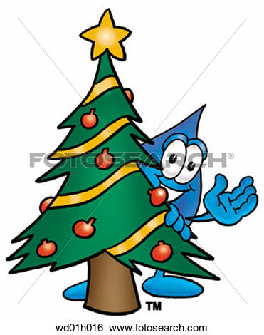 Trees water clipart jpg picture library download Clip Art of Water drop with christmas tree wd01h016 - Search ... picture library download
