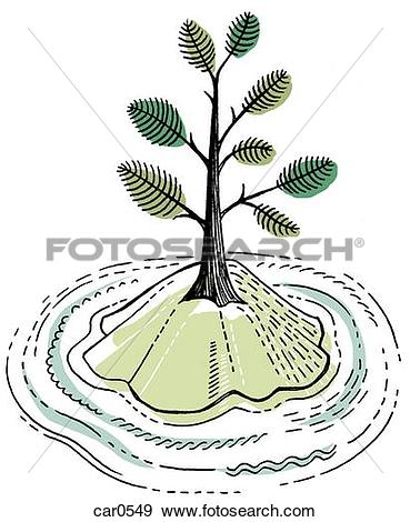 Trees water clipart jpg jpg Stock Illustration of A tree on a small island surrounded by water ... jpg
