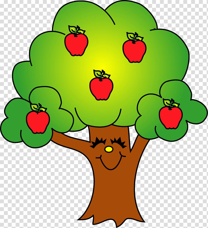 Trees and apples illustration, Apple Tree Fruit , Tree ... banner transparent library