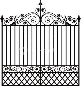 Garden Trellis Clipart | Free Images at Clker.com - vector ... image black and white download
