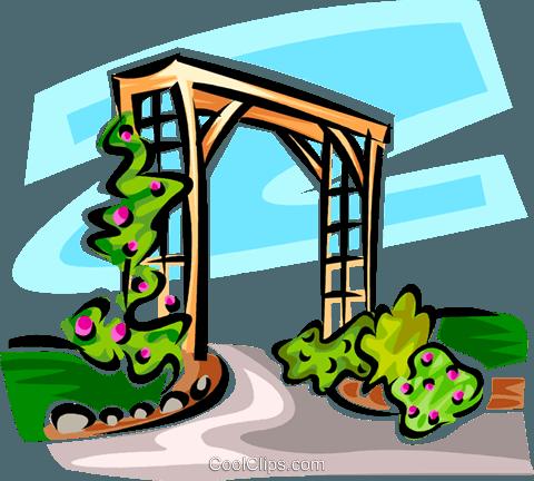 garden trellis Royalty Free Vector Clip Art illustration ... image library library
