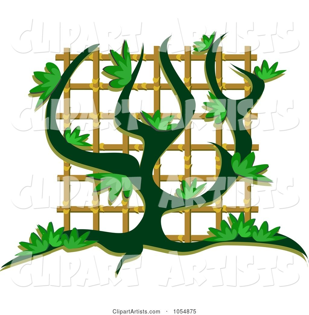 Vine Growing Up A Trellis Clipart by bpearth (theblueplanet) clip free download