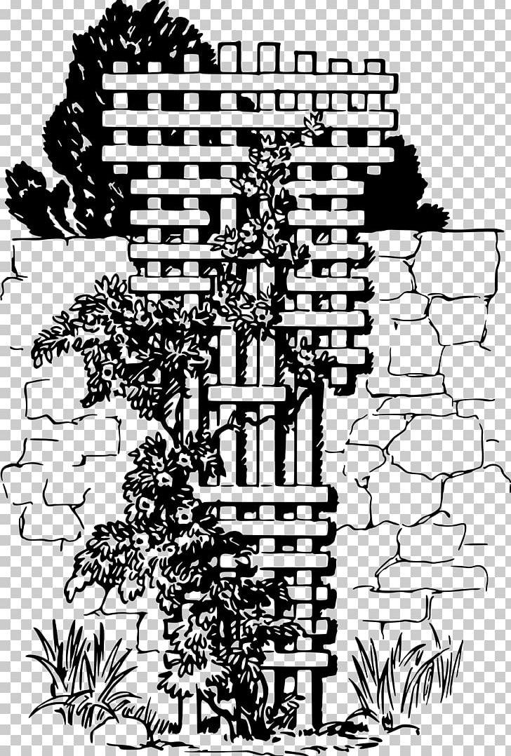Trellis Garden Vine PNG, Clipart, Art, Black And White ... png transparent download