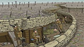 Trench warfare clipart clipart download What was life like in a World War One trench? | Trench ... clipart download