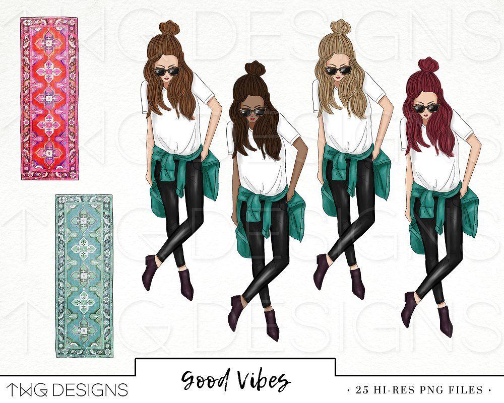 Trendy girl clipart image royalty free stock Planner Trendy Girl Fashion Clip Art #fun#accessories#decor ... image royalty free stock