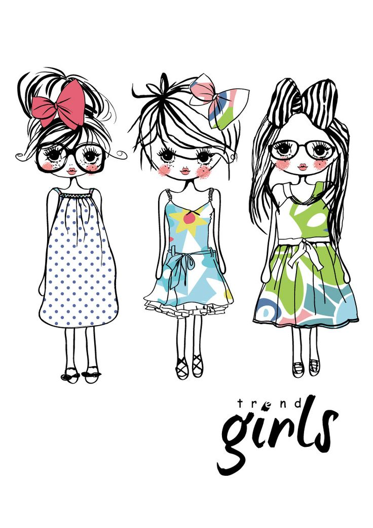 Trendy girl clipart graphic free download trendy little girls | Photoshop: Clipart | Clipart library ... graphic free download