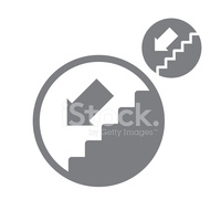 Treppe hinunter clipart picture transparent library Treppe Runter Vektor Einfach Einfarbig Symbol Isoliert Auf Weiss ... picture transparent library