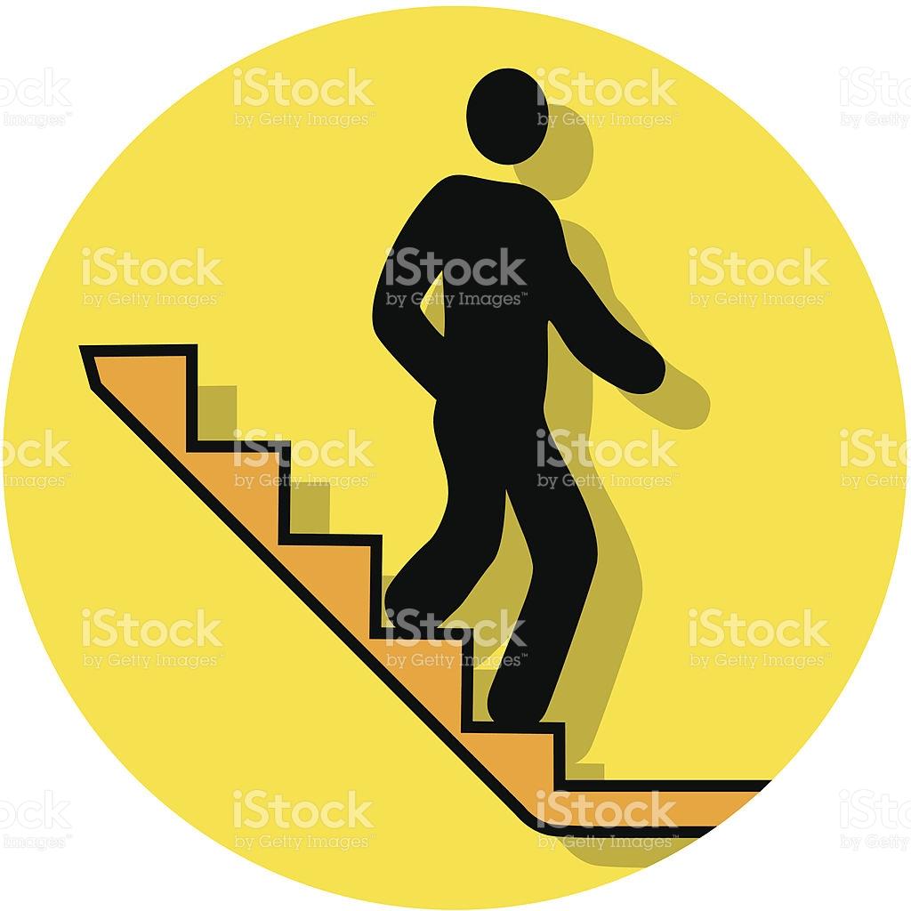 Treppe hinunter clipart banner transparent download Treppe Hinuntersymbol Vektor Illustration 165024977 | iStock banner transparent download